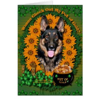 St Patricks - Pot of Gold - German Shepherd - Kuno Card