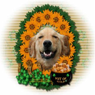 St Patricks - Pot of Gold -Golden Retriever Mickey Acrylic Cut Out
