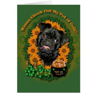 St Patricks - Pot of Gold - Pug - Ruffy Card