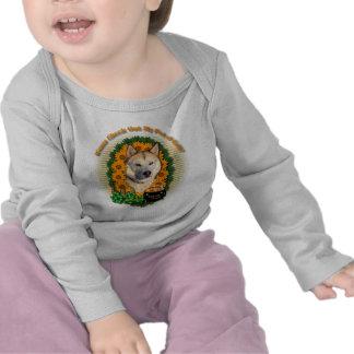 St Patricks - Pot of Gold - Siberian Husky -Copper T-shirt