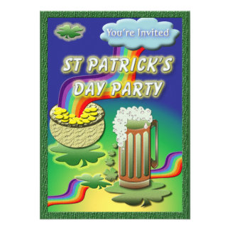 St Patricks s Day Party Personal Invites