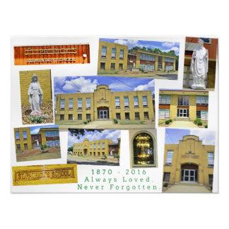 St Patrick's School Collage of Hubbard Ohio Photo Print