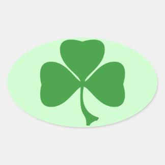 St Patrick's shamrock Oval Sticker