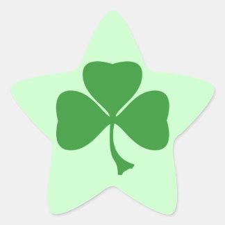 St Patrick's shamrock Star Sticker
