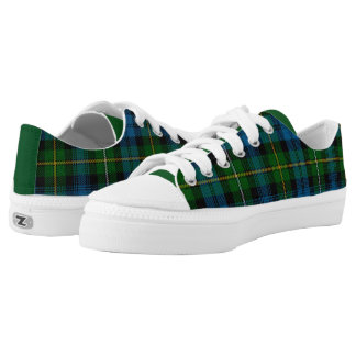 St. Patrick's Shamrock Tartan Printed Shoes