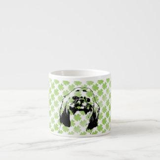 St Patricks - Shih Tzu Silhouette - Opal Espresso Mugs