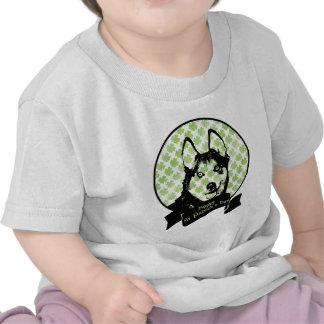 St Patricks - Siberian Husky Silhouette Tee Shirts