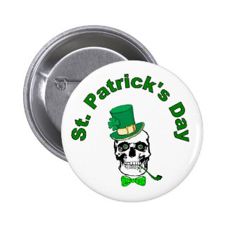 St. Patrick's Skull Button