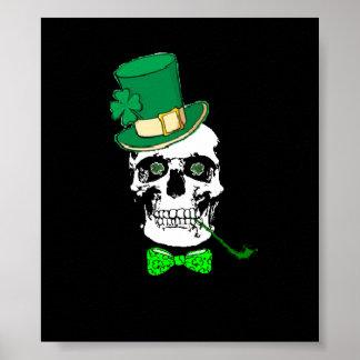 St. Patrick's Skull Poster