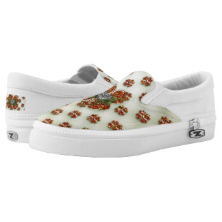 St. Patrick's Sparkly Shamrock with Heart Printed Shoes