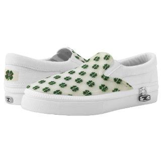 St. Patrick's Sparkly Shamrocks Printed Shoes