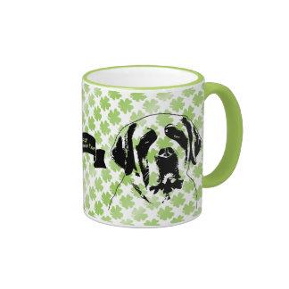 St Patricks - St Bernard Silhouette Coffee Mug
