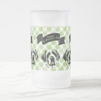 St Patricks - St Bernard Silhouette Mugs
