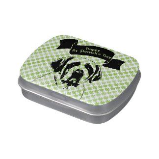 St Patricks - St Bernard Silhouette Jelly Belly Candy Tin