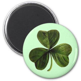 St. Patrick's Three Leaf Clover 6 Cm Round Magnet