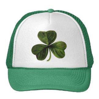 St. Patrick's Three Leaf Clover Mesh Hat