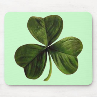 St. Patrick's Three Leaf Clover Mouse Pad