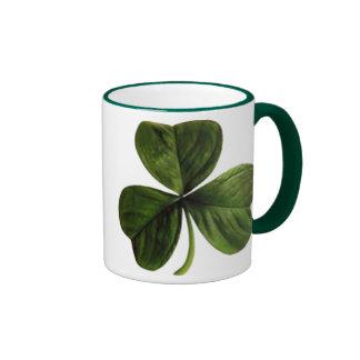 St. Patrick's Three Leaf Clover Mugs