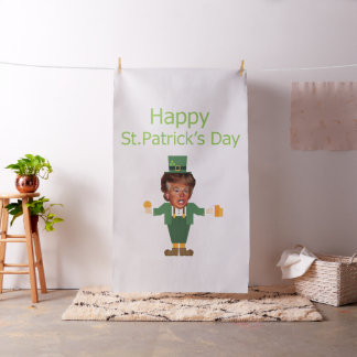 st patricks trump leprechaun fabric