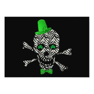 St. Patrick's Zebra Skull 13 Cm X 18 Cm Invitation Card