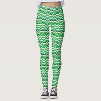 St. Patrick's Zigzag Leggings
