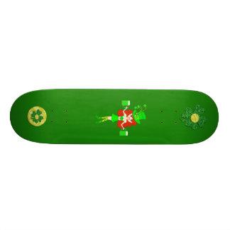 St Pat's Day Redhead Girl Leprechaun Custom Skate Board
