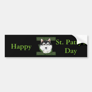 ST PATTY  Alaskan Malamute Bumper Sticker