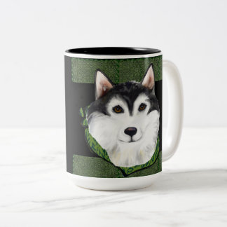 ST PATTY  Alaskan Malamute Two-Tone Coffee Mug