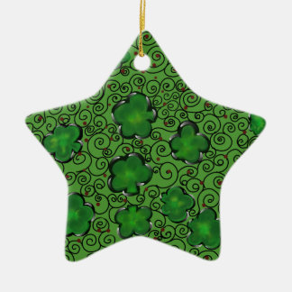 St. Patty Art Design Ceramic Ornament