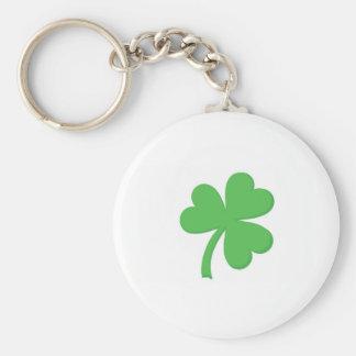 St Patty Day Shamrock Keychain