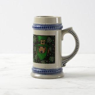 St. Patty Doxie Art Design Beer Stein