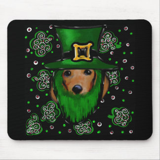 St. Patty Doxie Art Design Mouse Pad