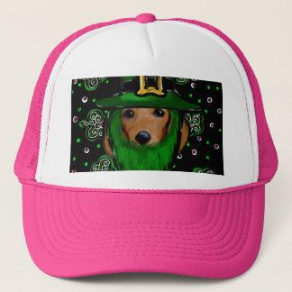 St. Patty Doxie Art Design Trucker Hat