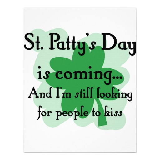 st patty looking announcements