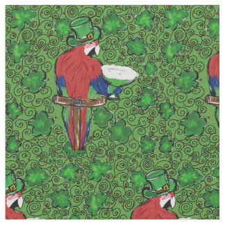 St. Patty Parrot Fabric