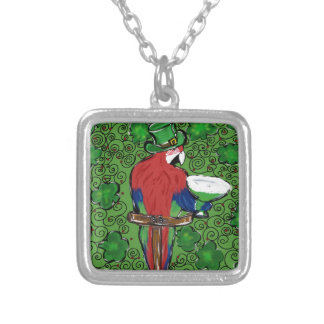 St Patty Parrot Silver Plated Necklace