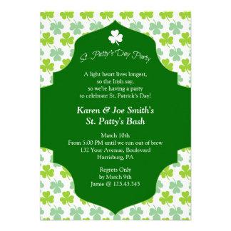 St Patty s Day Bash Festive Irish Cheers Custom Invites