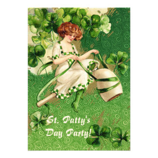St Patty s Day Girl Party Invitation