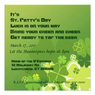 St Patty s Day invitation