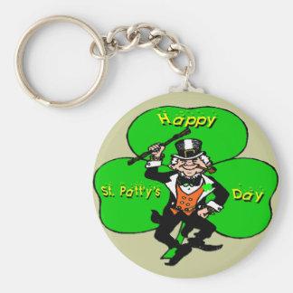 St Patty s Day Leprechaun Shamrock Keychain