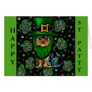 St. Patty Yorkie Poo Card