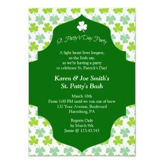 St. Patty's Day Bash Festive Irish Cheers Custom Invites