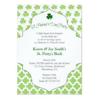 St. Patty's Day Bash Festive Irish Cheers Custom Announcements