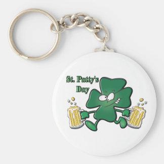 St. Patty's Day Basic Round Button Key Ring