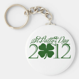 St Pattys day Basic Round Button Key Ring