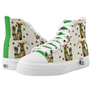 St. Patty's Day Chihuahua dogs tennis shoes Printed Shoes