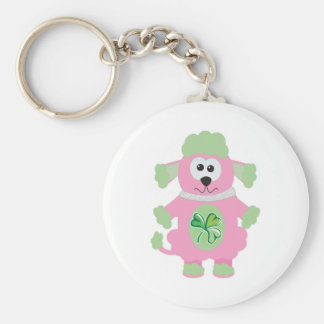 St Pattys Day Goofkins poodle Key Chains