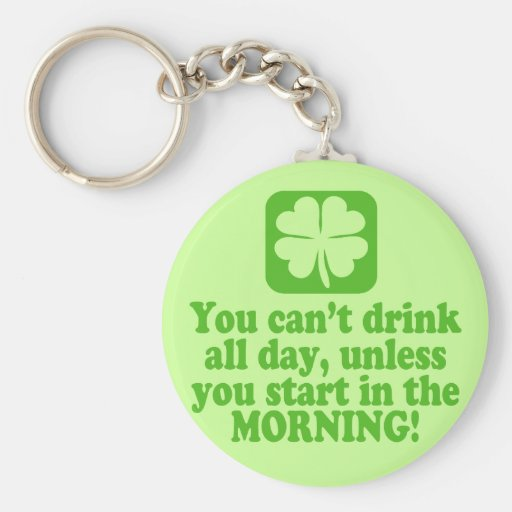 St Patty's Day Green Beer Key Chain