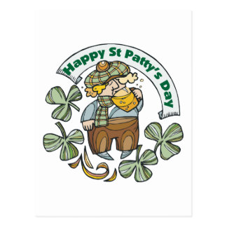 St Patty's Day Happy St. Paddy's Day Post Card
