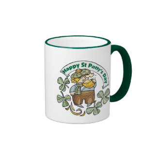 St Patty's Day Happy St. Paddy's Day Ringer Mug